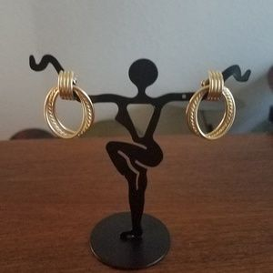 14k Gold Double Hoop Earrings